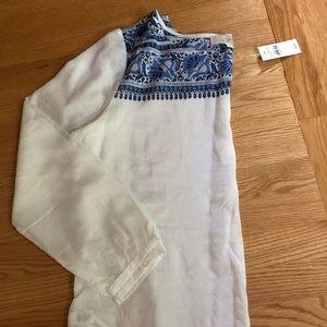 Loft batik cotton /silk long sleeve top